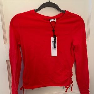 Red Long Sleeve Knit Shirt